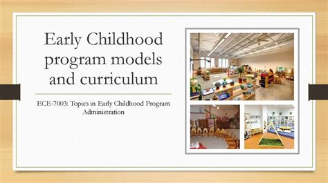 early childhood program models  curriculum