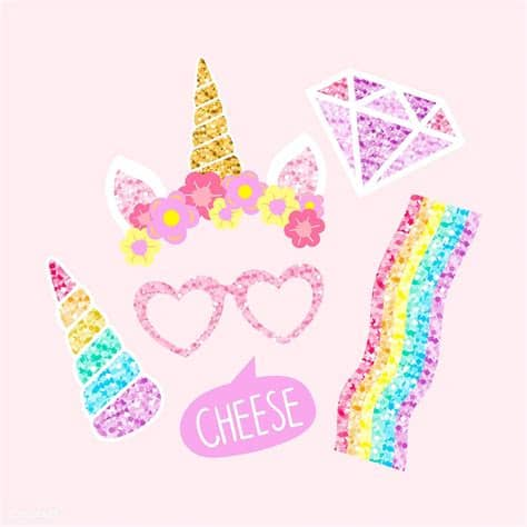 Last few years unicorn is been loved by medias and making girls go crazy these files will make your creativity spark, and be crafty super mom/grandma/lady among unicorn lovers! Cute unicorn photo booth party props vector   free image ...