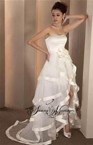 Robe Courte Mariée : robe de mariee bustier originale et deux en un sunny mariage ~ Melissatoandfro.com Idées de Décoration