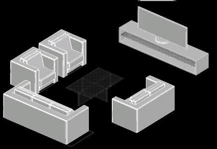 sofa  tv stand  autocad  cad