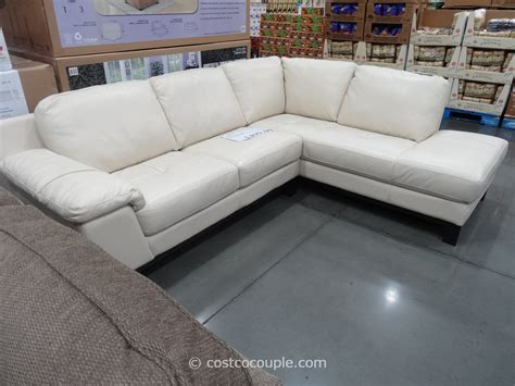 costco leather sofa in store htl manhattan leather sectional