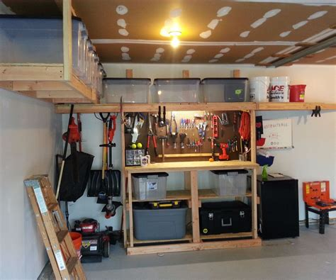 garage storagework bench