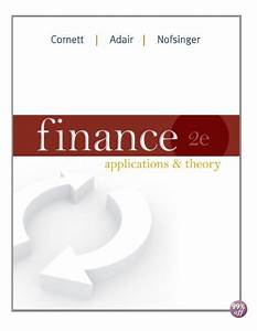 Solution Manual For Finance Applications And Theory 1st
