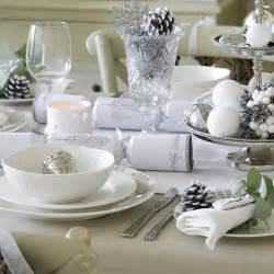 simple silver and white christmas table setting budget christmas table ideas housetohome co uk