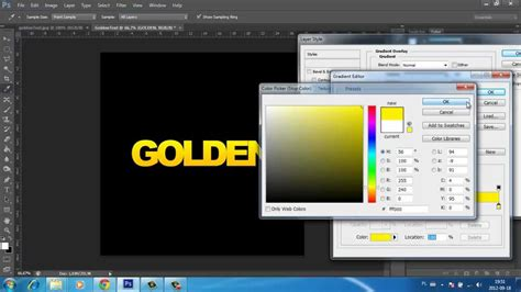 gold color photoshop text effects shiny gold photoshop tutorial