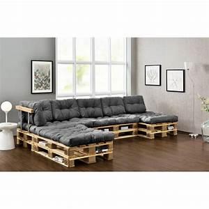 Kissen Set Sofa : euro paletten sofa set grau indoor kissen polster auflage sitzkissen ~ Eleganceandgraceweddings.com Haus und Dekorationen