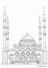 Ramadan Mosque Coloring Islam Arabic Crafts Islamic Alphabet Template Coloriage Weltreligionen Muslim Children Dessin Architecture Arte Islamique Masjid Araba Dibujos sketch template