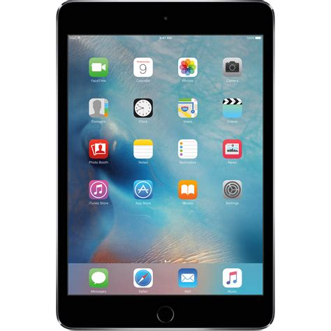 Apple 128GB iPad mini 4 (WiFi Only, Space Gray) MK9N2LLA B&H