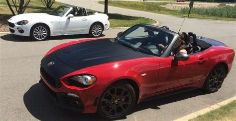 fiat spider white fca employees react to driving new fiat 124 spider fca