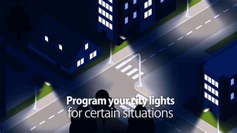 how do smart lights work smart street lighting control system youtube