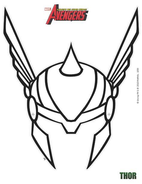 activités manuelles masque de thor à découper fr