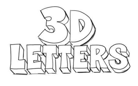 how to draw letters in 3d how to draw 3d letters 50276