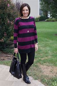 25 Days of Winter Outfits Stripes u0026 Leggings