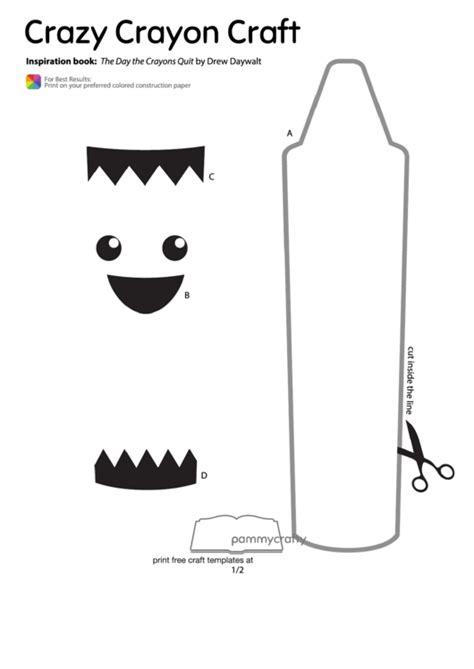 cut  crazy crayon craft template printable