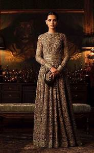 Green Color Floor Length Gown from Sabyasachi Collection