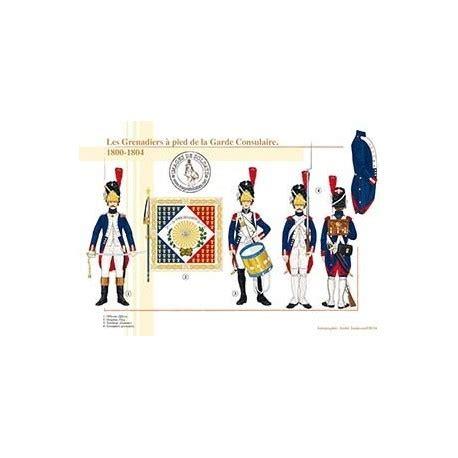 le bureau la garde les grenadiers à pied de la garde consulaire 1800 1804