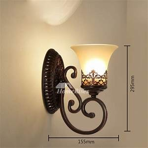 Rustic, Wall, Sconces, Wrought, Iron, Glass, Shade, Contemporary, Carved