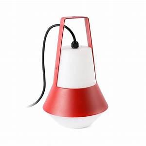 Lampe De Jardin : lampe de jardin baladeuse cat rouge h32cm faro luminaires nedgis ~ Teatrodelosmanantiales.com Idées de Décoration