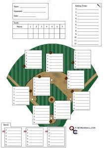 Printable Baseball Lineup Cards