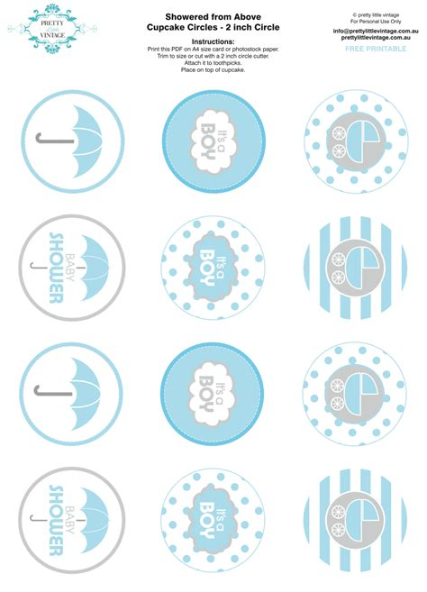 Free Baby Shower Printable - kara s ideas showered from above boy baby