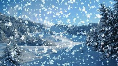 Snowfall Falling Snow Animated Desktop Scene Snowy
