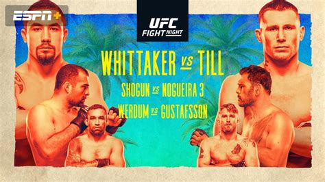 UFC Fight Night Presented by Modelo: Whittaker vs. Till ...