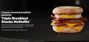 Triple Breakfast Stacks - McDonald's UK - Price, Calories ...