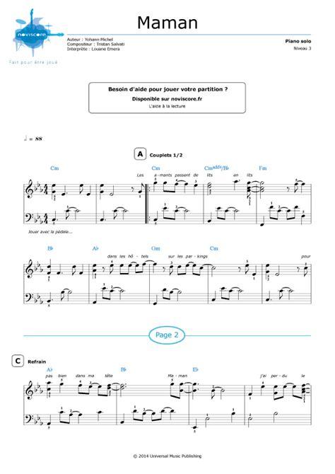 si鑒e pour piano partition piano gratuite a imprimer louane