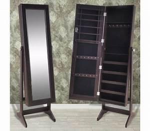 Armoire à Bijoux Miroir : armoire bijoux avec miroir brun ~ Teatrodelosmanantiales.com Idées de Décoration