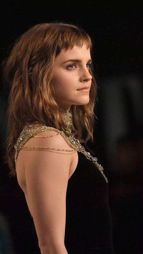 Emma Watson Black Dress New Wallpaper