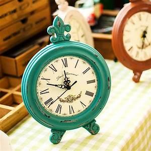 Retro, Style, Vintage, Wooden, Table, Clock, Desk, Clock, Ornament, Home, Decor