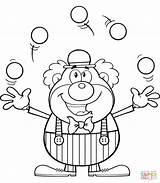 Clown Coloring Juggling Circus Balls Ausmalbilder Clipart Colorare Dessiner Ausdrucken Comment Clowns Poisson Colorir Desenhos Zum Template Kostenlos Colorear Payaso sketch template