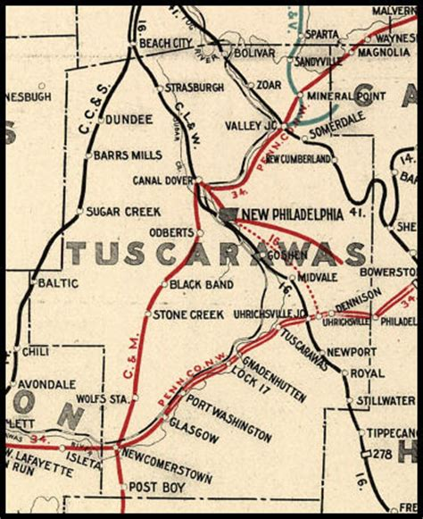Tuscarawas County Ohio Railroad Stations