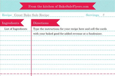 Type And Print Free by Recipe Card Maker You Can Type In Your Recipe Directly