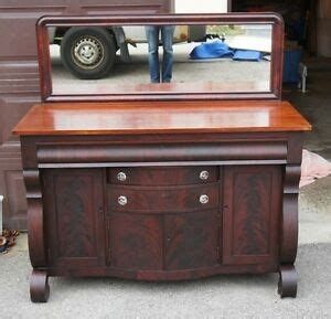 Antique Buffet Sideboard With Mirror by Berkey Antique Mahogany Empire Style Buffet