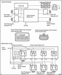Toyota Corolla Repair Manual  Inspection - Power Window Control System  Windowglass