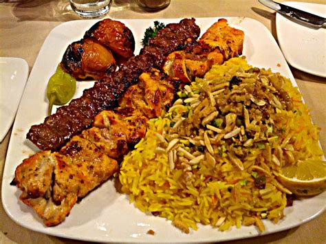 Yelp Food Boneless Chicken And Beef Koobideh Kabob W Shirin Polo