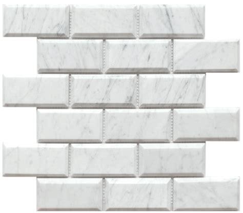carrara venato 2x4 quot wide beveled polished marble