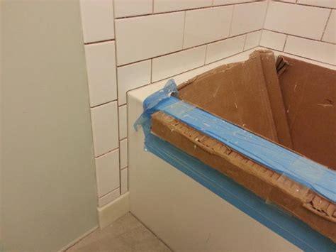 Tiling A Bathtub Lip by Tiling A Bathtub Shower Bathroom Design Tile Around Tub
