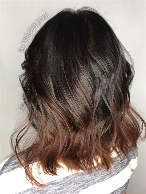 Swoopy flipped layers for long hair graduated haircuts are a great choice for women with dry and damaged hair because they promote. French Roast Balayage | Long hair styles, Hair styles, Balayage
