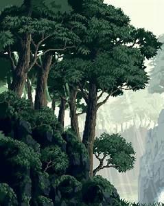 trees forest pixel art pixels pixel background ...