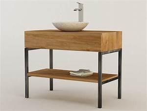 Pied Pour Meuble Salle De Bain : meuble vasque teck cool prvenant meuble salle de bain en ~ Dailycaller-alerts.com Idées de Décoration