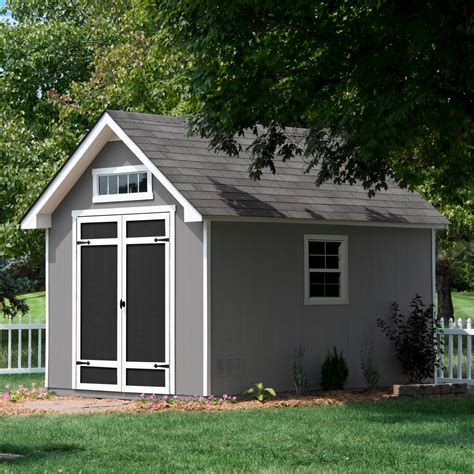 everton    deluxe wood storage shed  cubic feet