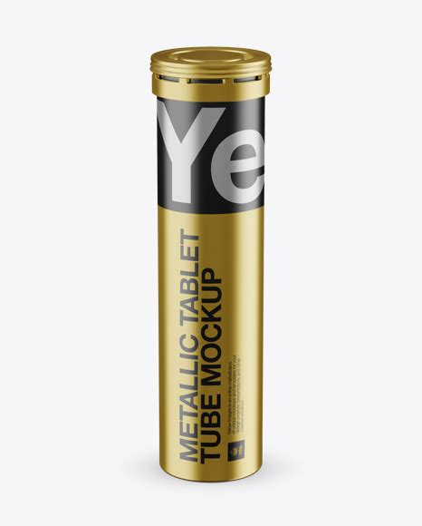 Includes a golden layer for your design. Download Metallic Effervescent Tablets Tube Mockup - Front ...