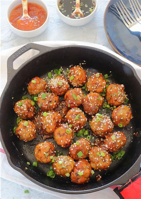 chicken meatballs baked recipe teriyaki fryer air spicy