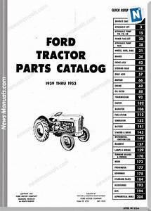 Ford Tractor 8n 2n 9n And Naa Master Parts Catalog