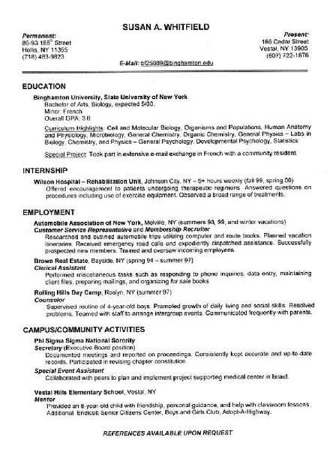 Ehow Resume by Proper Resume Formats Ehow