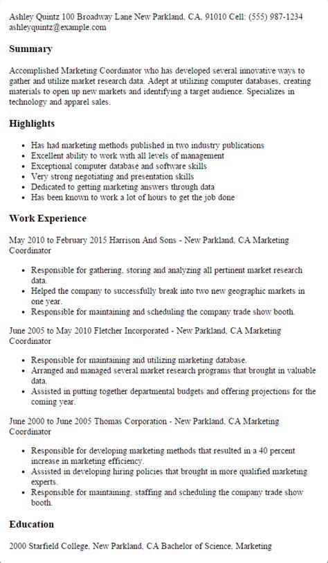 marketing resume templates to impress any employer livecareer
