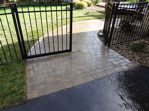 paver walkway and black gate lawn systems inc