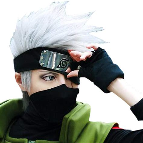 hot hatake kakashi silver gray short anime cosplay costume